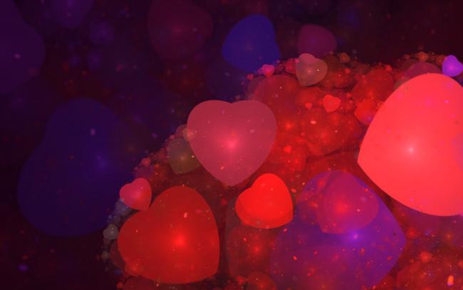 Обои картинки фото праздничные, день святого валентина,  сердечки,  любовь, сердечки, фон