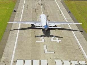обоя взлётная, полоса, авиация, пассажирские, самолёты
