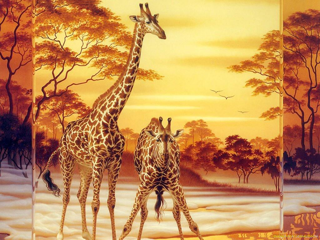 жираф рисунок  № 3522598  скачать