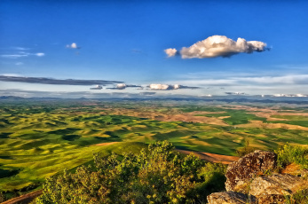Картинка steptoe butte state park washington природа пейзажи панорама холмы palouse