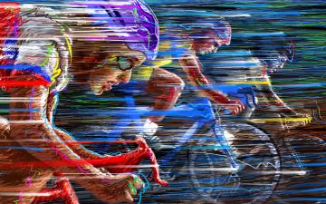 обоя спорт, 3d, рисованные, гонка