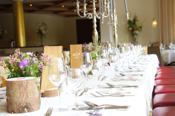 обоя интерьер, декор,  отделка,  сервировка, стол, банкет, цветы, посуда
