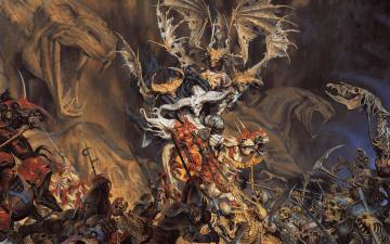 Картинка фэнтези нежить война миров демоны битва