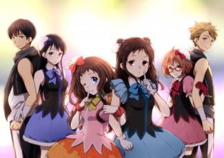 Картинка аниме kyoukai+no+kanata девушки фон взгляд