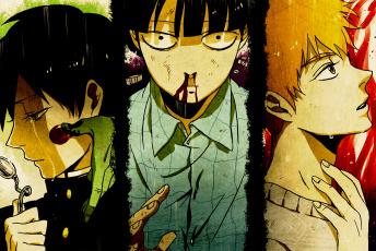обоя аниме, mob psycho 100, моб, психо, 100