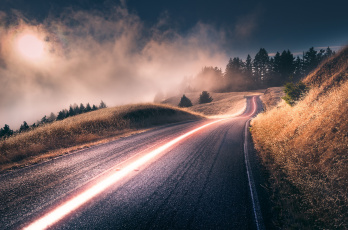 Картинка природа дороги деревья дорога california калифорния