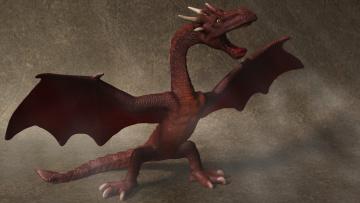 обоя 3д графика, существа , creatures, funny, dragon, дракон
