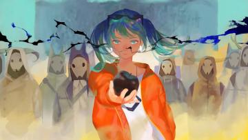 обоя аниме, vocaloid, девушка