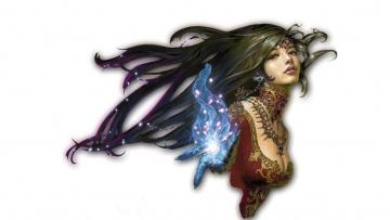 обоя фэнтези, магия, украшения, декольте, девушка
