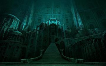 обоя фэнтези, _lord of the rings, властелин, колец, замок, лестница