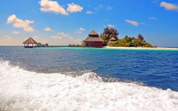 обоя природа, тропики, мальдивы, остров, отдых, пляж, море
