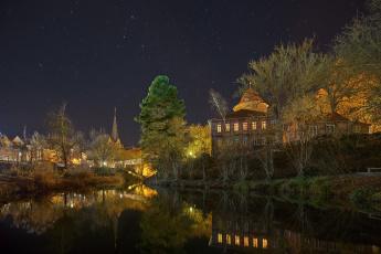 обоя города, - огни ночного города, простор