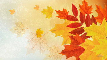 обоя векторная графика, природа , nature, листья, фон