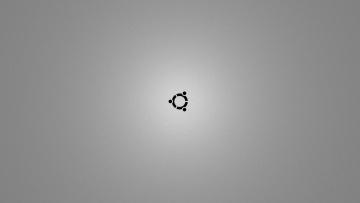 Картинка компьютеры ubuntu linux логотип серый