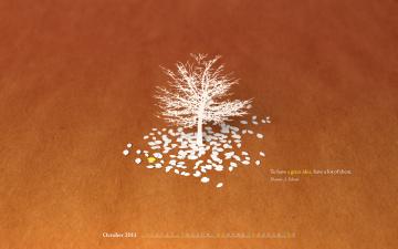 Картинка календари рисованные векторная графика дерево листья