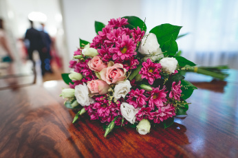обоя цветы, букеты,  композиции, хризантемы, розы, букет