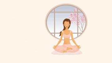 обоя векторная графика, девушки , girls, вектор, девушка, асана, арт, meditation, йога