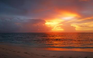 обоя природа, восходы, закаты, пляж, закат, море