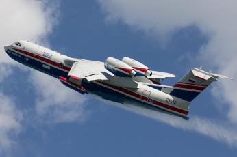 обоя авиация, самолёты амфибии, российский, бе-200Чс, гидросамолёт, самолёт-амфибия