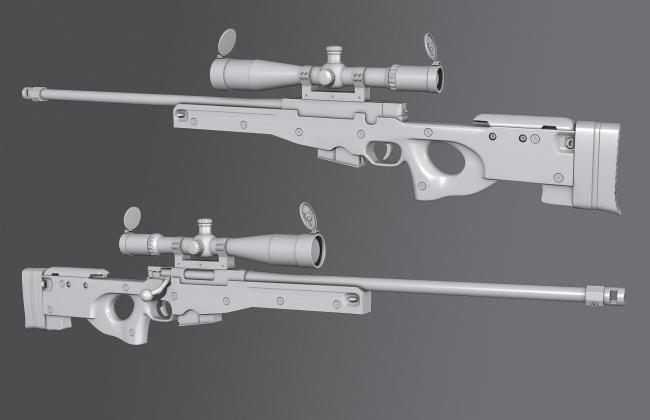 Модель орудия
