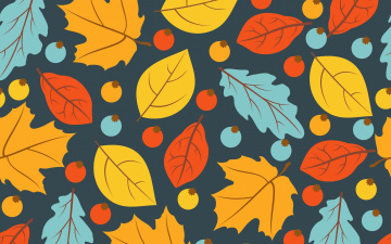 обоя векторная графика, природа , nature, осень, листья, фон, colorful, background, autumn, pattern, leaves, осенние, seamless