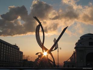 обоя вечерняя, звезда, города, памятники, скульптуры, арт, объекты