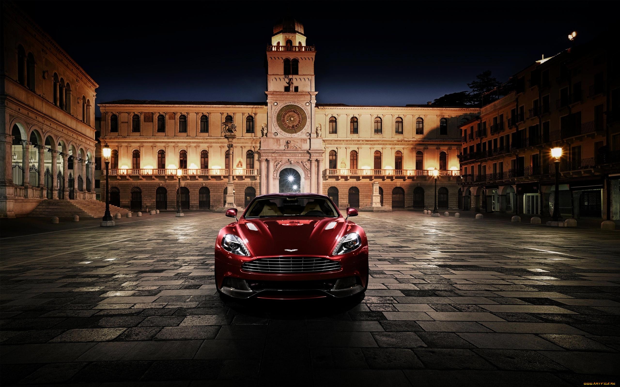 Aston Martin суперкар ночь город  № 2374851  скачать