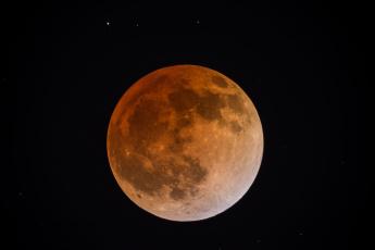 обоя blood moon, космос, луна, спутник