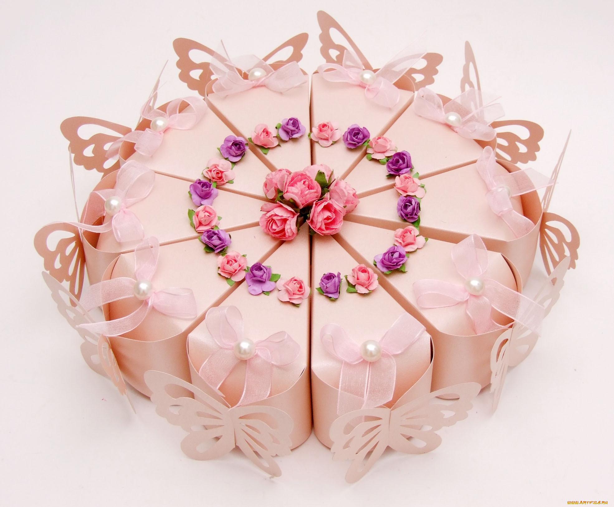 Упаковка для подарков торт 633