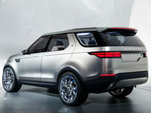 Картинка автомобили land-rover land rover discovery vision светлый 2014г concept