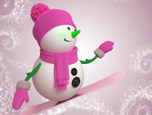 обоя праздничные, снеговики, новый, год, рождество, снеговик