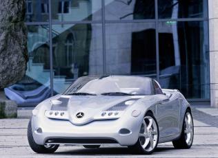 обоя mercedes-benz vision sla concept 2000, автомобили, mercedes-benz, 2000, concept, sla, vision