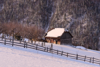 обоя города, - здания,  дома, brasov, горы, зима, magura, румыниЯ