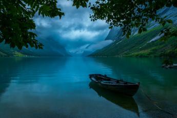 обоя корабли, лодки,  шлюпки, горы, озеро, лодка