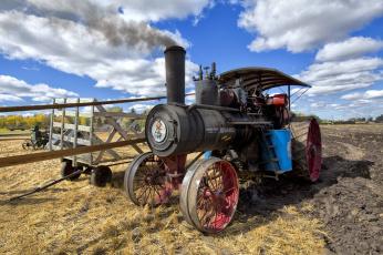 обоя техника, тракторы, трактор, паровой