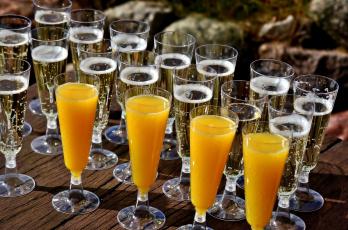 Картинка еда напитки сок бокалы шампанское