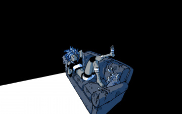 Картинка девушка+на+диване рисованные минимализм диван девушка