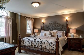 Картинка интерьер спальня мебель комната