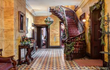 обоя интерьер, холлы,  лестницы,  корридоры, мебель, комната