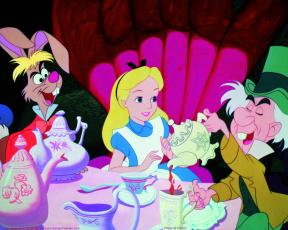 обоя мультфильмы, alice, in, wonderland
