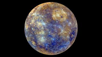 Картинка космос меркурий кратеры планета