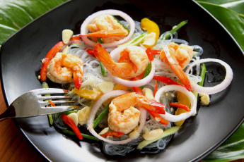 Картинка еда рыбные+блюда +с+морепродуктами лук креветки