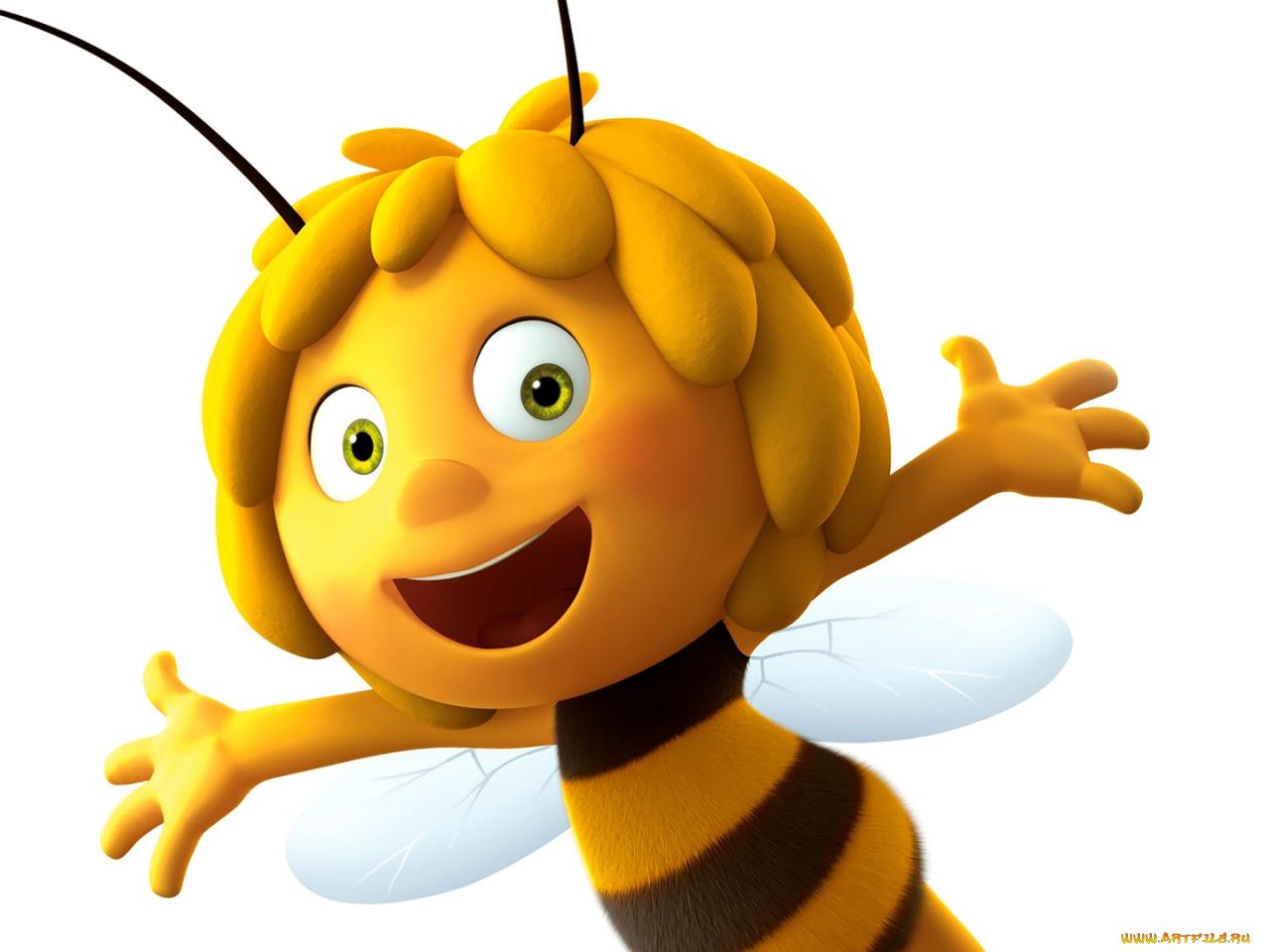 Мужчина, прикольные картинки с пчелкой майей