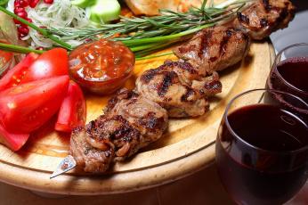 обоя еда, шашлык,  барбекю, мясо