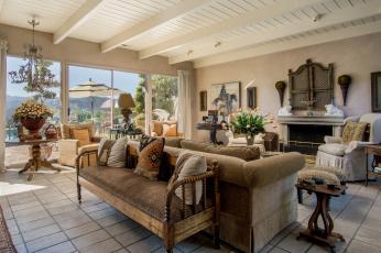 обоя интерьер, гостиная, подушки, диваны, кресла, цветы, камин