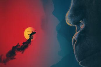 обоя кино фильмы, kong,  skull island, фэнтези, skull, island, приключения, остров, черепа, конг