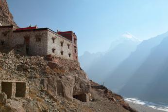 обоя тибет,  кайлас,  монастырь Чуку, разное, религия, монастырь, кайлас, ламаизм, буддизм