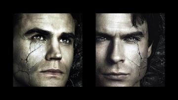 обоя кино фильмы, the vampire diaries, коллаж