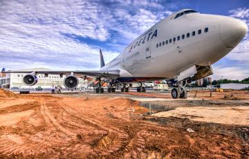 обоя boeing 747, авиация, пассажирские самолёты, авиалайнер