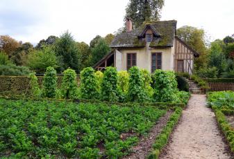 Картинка hameau+de+la+reine+-+ch& 226 teau+de+versailles города -+исторические +архитектурные+памятники сад деревня versailles франция дом